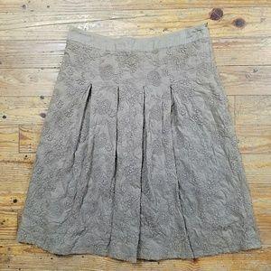 Flared Pleated Skirt
